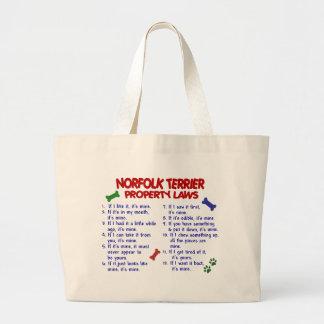 NORFOLK TERRIER Property Laws 2 Jumbo Tote Bag