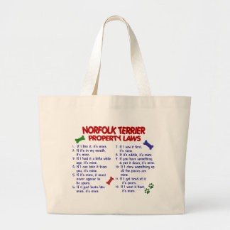 NORFOLK TERRIER Property Laws 2 Large Tote Bag