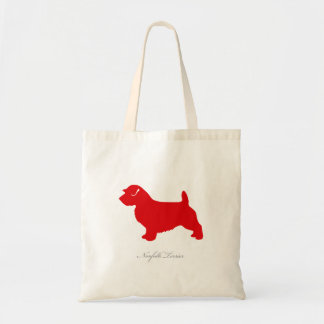 Norfolk Terrier Tote Bag (red silhouette)
