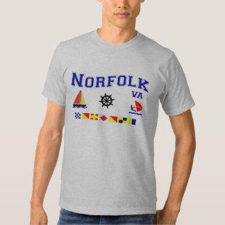 Norfolk VA Signal Flags Tshirts