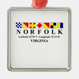 Norfolk Virginia 2 Christmas Ornament