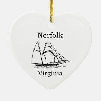Norfolk Virginia Tall Ships Logo Christmas Ornament