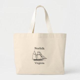 Norfolk Virginia Tall Ships Logo Jumbo Tote Bag