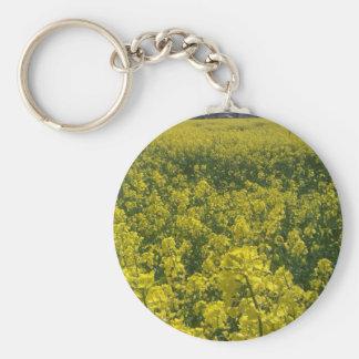 Norfolk yellow rape flower field key ring
