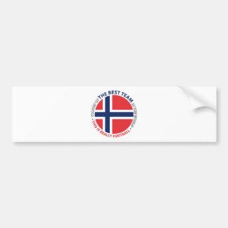 Norge Norway Art Shield Bumper Sticker