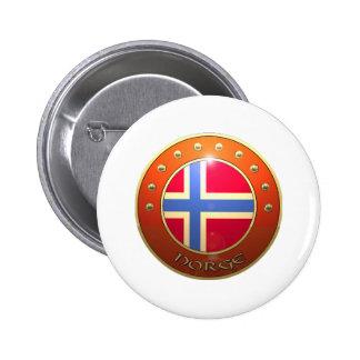 Norge shield 6 cm round badge