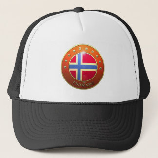Norge shield trucker hat
