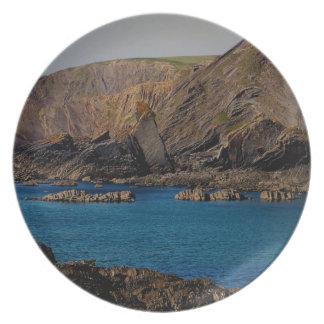 Norh Devon Hartland Volanic Ash Cloud Plate