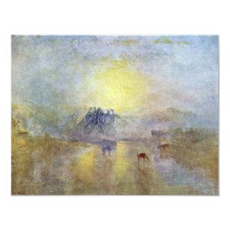 Norham Castle At Sunrise By Turner Joseph Mallord Custom Invitations
