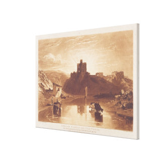 Norham Castle, engraved by Charles Turner (1773-18 Canvas Print