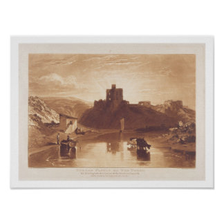 Norham Castle, engraved by Charles Turner (1773-18 Poster