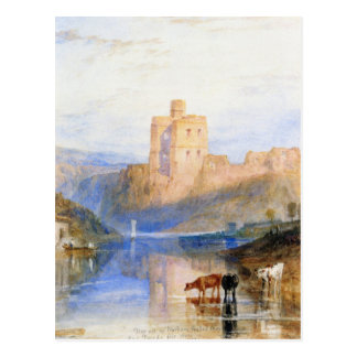 Norham Castle on the Tweed by William Turner Postcard