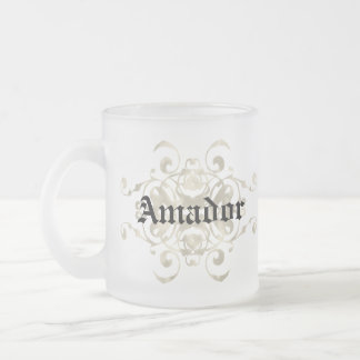 Noriega Shield Arms - Customise with first name Frosted Glass Mug