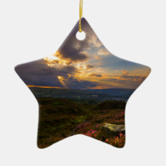 Norland moor sunset christmas ornament