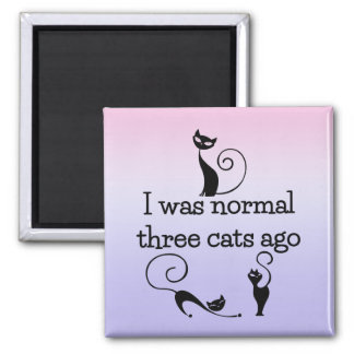 Normal 3 Cats Ago Humorous Fridge Magnet