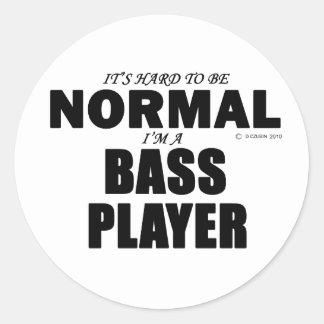 Normal Bass Player Sticker