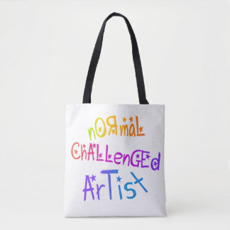 NORMAL CHALLENGED ARTIST TOTE BAG