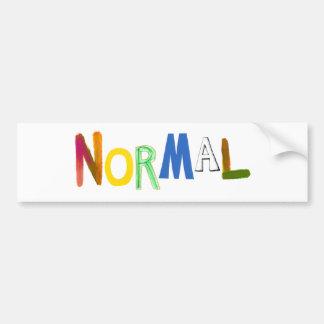 Normal common average regular colorful word art bumper sticker