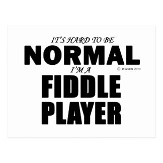 Normal Fiddle Player Postcard