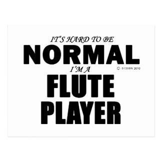 Normal Flute Player Postcard