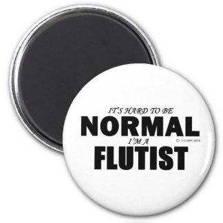 Normal Flutist 6 Cm Round Magnet