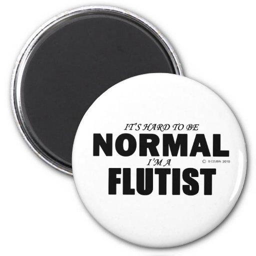 Normal Flutist Refrigerator Magnets