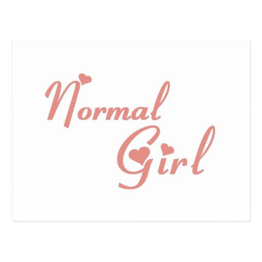 Normal Girl tee shirts Postcard