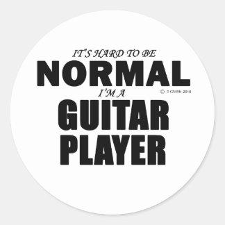 Normal Guitar Player Round Sticker