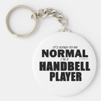 Normal Handbell Player Basic Round Button Key Ring