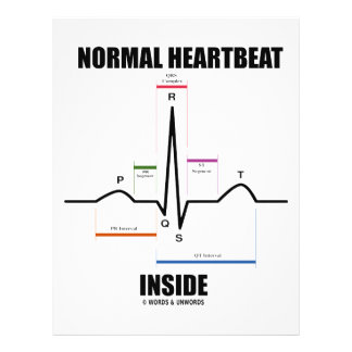 Normal Heartbeat Inside (ECG EKG) 21.5 Cm X 28 Cm Flyer
