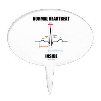 Normal Heartbeat Inside ECG EKG Electrocardiogram Cake Topper