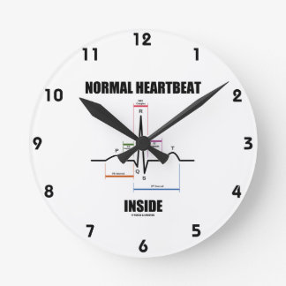 Normal Heartbeat Inside ECG EKG Electrocardiogram Wall Clocks