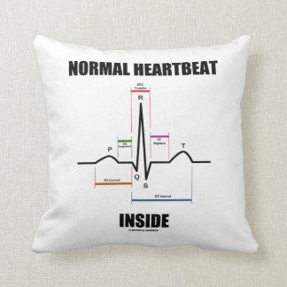Normal Heartbeat Inside ECG EKG Electrocardiogram Throw Pillow