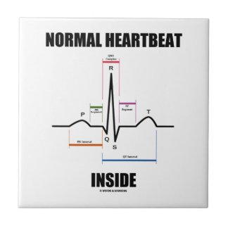 Normal Heartbeat Inside ECG EKG Electrocardiogram Ceramic Tiles