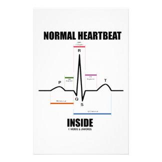 Normal Heartbeat Inside (ECG EKG) Stationery Paper