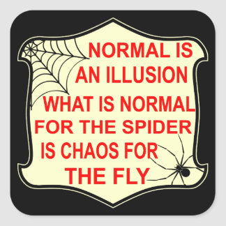 Normal Is An Illusion What Is Normal To The Spider Square Sticker