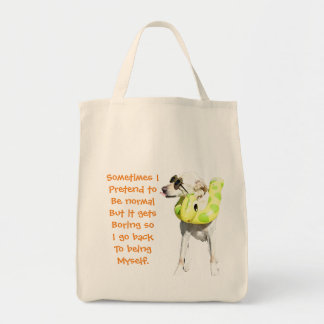 Normal is boring grocery bag. tote bag