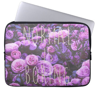 NORMAL IS BORING LAPTOP SLEEVE