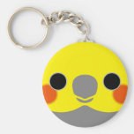 Normal Male Cockatiel Basic Round Button Key Ring