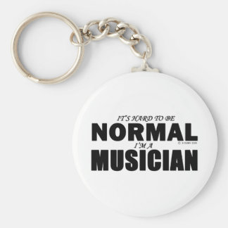 Normal Musician Basic Round Button Key Ring