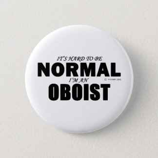 Normal Oboist 6 Cm Round Badge