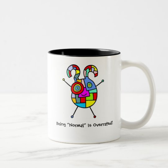 Normal Overrated (customisable) Two-Tone Coffee Mug