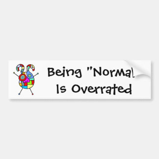 Normal Overrated (customizable) Bumper Sticker