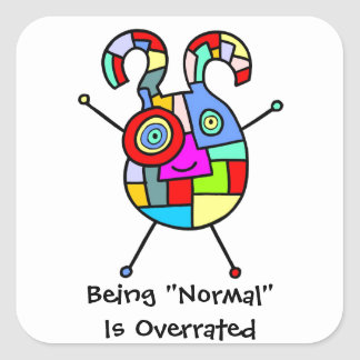 Normal Overrated (customizable) Square Sticker