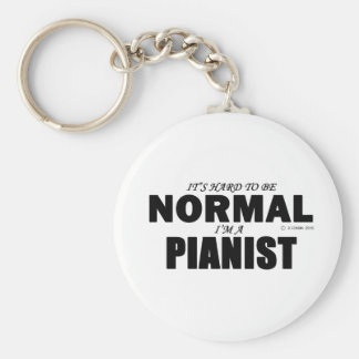 Normal Pianist Basic Round Button Key Ring