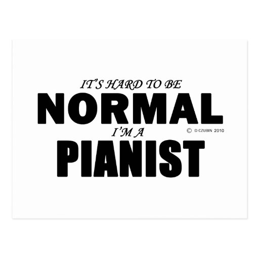 Normal Pianist Post Cards