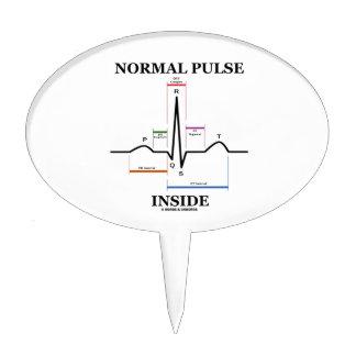 Normal Pulse Inside (ECG/EKG Electrocardiogram) Cake Topper