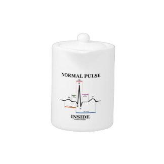 Normal Pulse Inside (ECG/EKG Electrocardiogram)
