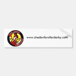 normal_shedevilslogo, www.shedevilsrollerderby.com bumper sticker