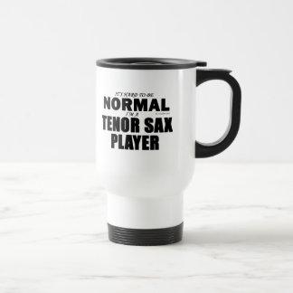 Normal Tenor Sax Player Stainless Steel Travel Mug